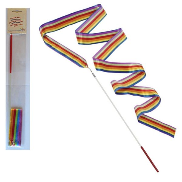 Material Ribbon Dance Rhythmic Gymnastic Streamer Twirling Rod Multi Coloured
